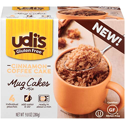 Udi's Gluten Free Cinnamon Coffee Cake Mug Cake Mix, 8.4 oz. 4-Count