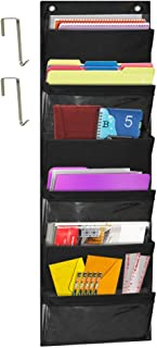 Godery Sustainable Office Storage Pocket, Cascading Wall File Organizer, 6 Pockets, Letter Size, File Folder Holders for Classroom, Office, School and Home, 45