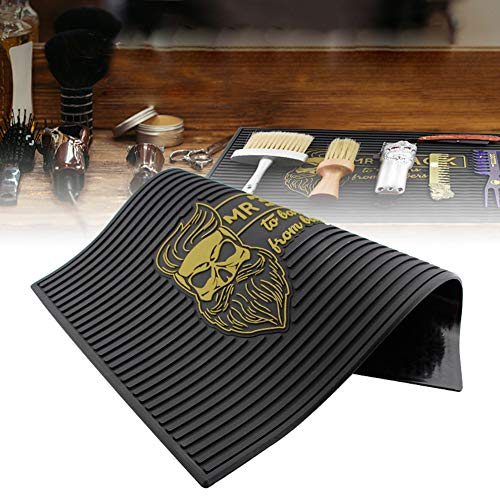 WANGXN Barber Mats Tapis antidérapant Flexible pour Clippers Bar Sevice Mat, Barber Shop Work Station Pads, Professional Beauty Salon Tools for Hairstylists