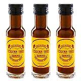 Mexican Tears® - Red Pepper Sauce - 3er Pack, scharfe Sauce aus Chili & Meersalz, perfekt als Grill-Zubehör für BBQ Sauce, Pulled Pork & zum Aufpeppen von Hamburgern [3x100ml Chilisauce]