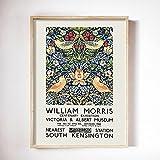 Impresión en lienzo de William Morris, póster de exposición del museo, arte nouveau subterráneo de Londres, lienzo sin marco, pintura A1 20x30cm