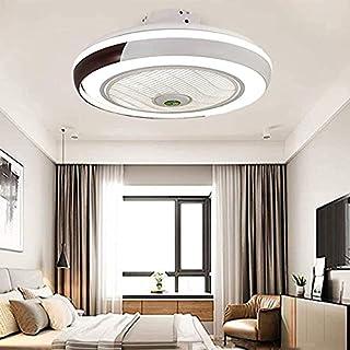 Invisible ventilador de techo luz, moderna LED Ventilador de techo Lámpara de techo con luz Y mando a distancia ventilador Luz Techo-aspas Plafones dormitorio Iluminación Sala Estar Comedor de techo,A