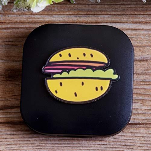 LILIANG Mini Brillenetui Kontaktlinse-Kasten, Cartoon Lebensmittel Augenlinse-Kasten, Nette Kontaktlinsen-Reiseetui for Personal Care Box Gläser Container (Size : Hamburger)