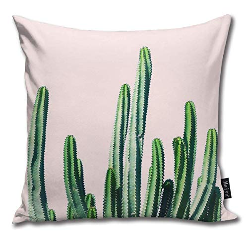 Emonye Cactus V6#Redbubble #Lifestyle Pillow Cover, 18 x 18 Inch Winter Holiday Farmhouse Cotton Cushion Case Decoration for Sofa Couch