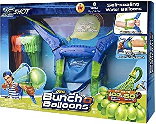 Water Balloon Slingshot Launches Water Balloons 130 Feet; Fill and Tie 100 Water Balloons in 60 Seconds