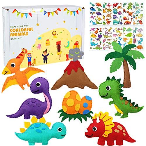 Dinosaurio fieltro Kit de costura para niños - dinosaurio f