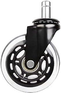 Casters Meubelwielen 3 inch X1 transparante gieter PU zekeringsringwiel bureaustoel gieter meubilair stil wiel (grootte: 1...