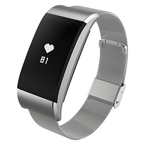 Eeayygch KPulsmesser - Braccialetto intelligente per pressione sanguigna, cardiofrequenzimetro, orologio Millet Oppo, impermeabile, sportivo, contapassi, unisex