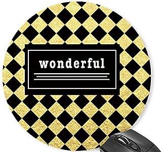 Mouse Mat Black Yellow Squares - Wonderful Mouse Pad