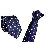 EUCoo Uomo Cravatta Stile aziendale striscia Tie di moda moda Uso formale