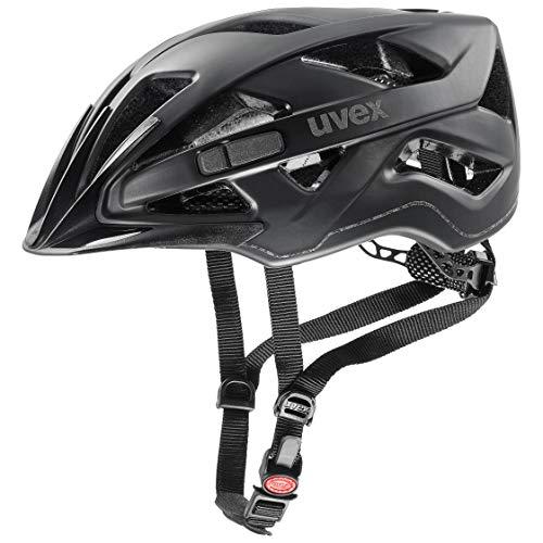 Uvex Unisex– Erwachsene, active cc Fahrradhelm, black mat, 52-57 cm
