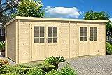 CARLSSON Gartenhaus Maria Twin, 28 mm Wandstärke (598 x 250 cm)