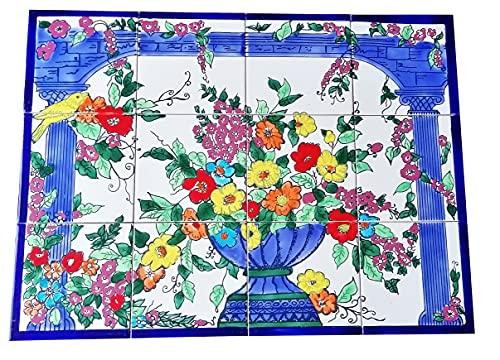 Handbemalte Fliesen Paradiesgarten Fliesenbild Orientalische Fliesen Mosaik