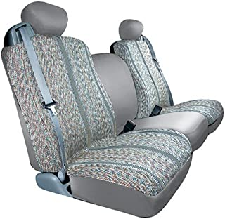 Saddleman Custom Made Front/Rear Bucket Seat Covers - Saddle Blanket Fabric (Gray)