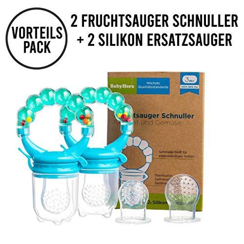 Tinabless Sch/ätzchen Schnuller Gem/üse sauger f/ür Sch/ätzchen mit 3 Silikon Nippel Ersatz Fruchtsauger