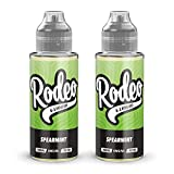 Twin Pack - 2 x 100ml Spearmint E <span class='highlight'>Liquid</span> 70/30 Vape Juice E-<span class='highlight'>Liquid</span> Juice 0mg Flavoured eJuice E <span class='highlight'>Cigarette</span> <span class='highlight'>Liquid</span> No Nicotine 120ml Bottle Short Fill 200ml (Rodeo E <span class='highlight'>Liquid</span>)