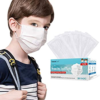 50-Pack Kids Disposable Face Mask (White)