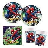 Procos 10118255Set de fiesta con diseño de Spiderman, 52 piezas