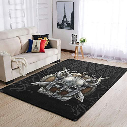 Knowikonwn Lujosas alfombras vikingas de mitología moderna para interiores y salas de estar, para niñas, niños, color blanco, 50 x 80 cm