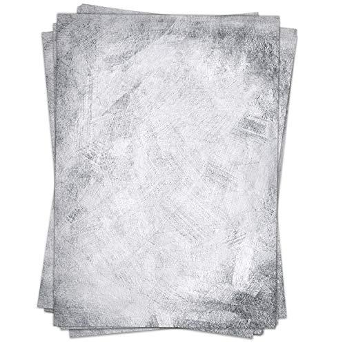 Briefpapier Design-Motiv Spachtel Mauer Vintage Look Grau - 50 Blatt, DIN A4 Format, Bastel-Papier beidseitig bedruckt