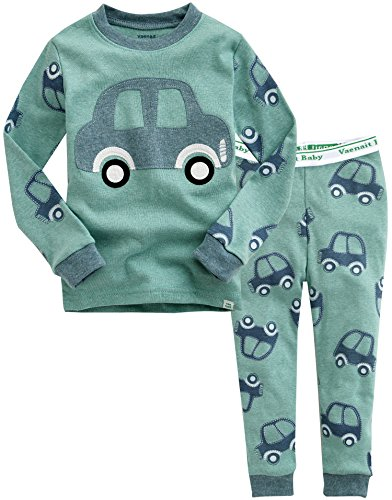 Image of Green Car Pajamas for Toddlers and Infants - See More