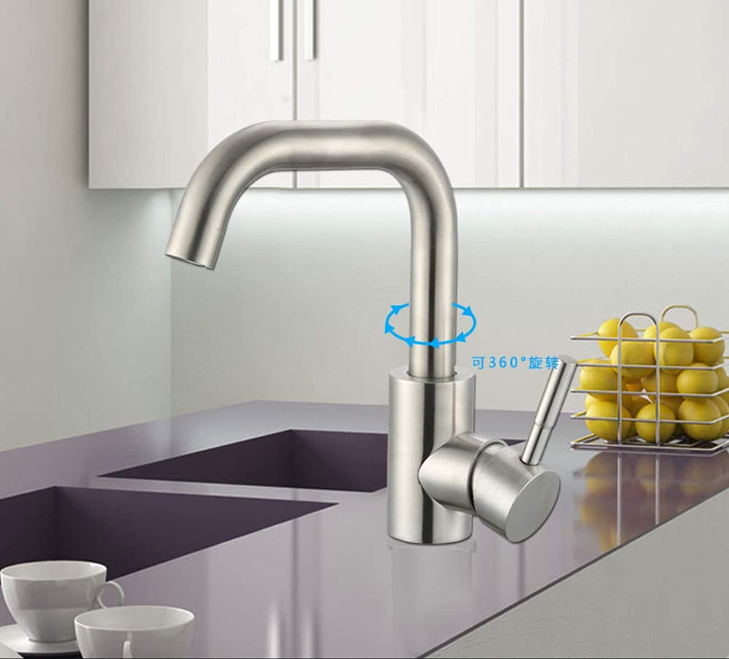Kitchen Sink Taps bathroom Sink Taps sus304 Stainless Steel Hot And Cold Basin Faucet Washbasin Faucet Wash Basin Basin Single Hole redary Faucet