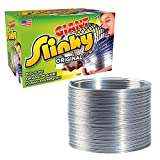 Slinky Brand The Original Giant Slinky Walking Spring Toy, Big Metal Slinky, Multi-Color