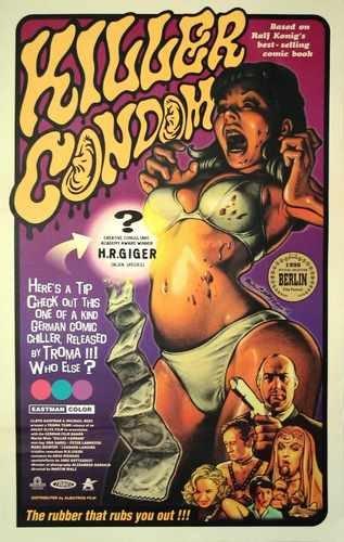 Killer Condom Poster 02 Canvas A2 groot 42x60cm Doos Doek Print 16x24 inch