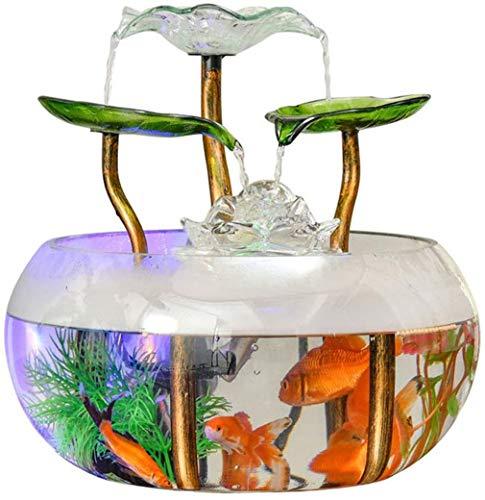 Aquarium ecologische fles - Mini Lazy Goldfish Tank Aquarium Home Decor Creatieve glazen woonkamer (28 * 28 * 28cm) (met: luchtbevochtiger)
