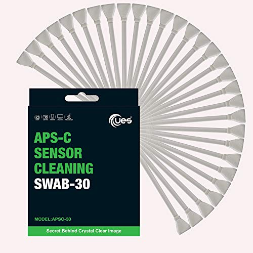 UES APSC-30 - Hisopos de Limpieza para Sensor de cámara Digital DSLR o SLR para sensores Tipo APS-C (30 hisopos de 16 mm)