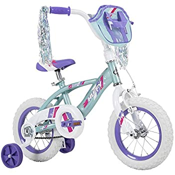 Huffy Kid Bike 12 inch Glimmer Quick Connect Assembly Blue w/ Streamers & Bag