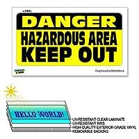 危険危険エリアキープアウト - 12×6でで - ラミネート符号ウィンドウビジネスステッカー