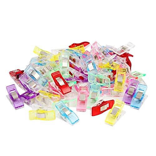 60 Mini Prendedor Clips Prender Plásticos Pequenos Colorido