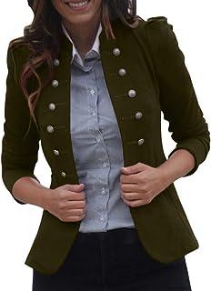 LUGOW Damen Jacken Halben /Ärmel einfarbig Kapuzenpullover Strickjacken Outwear Mantel Jacke Damen B/üro Tragen G/ünstig M/äntel Streetwear Windjacke /Übergangs-Jacke Coat Outwear