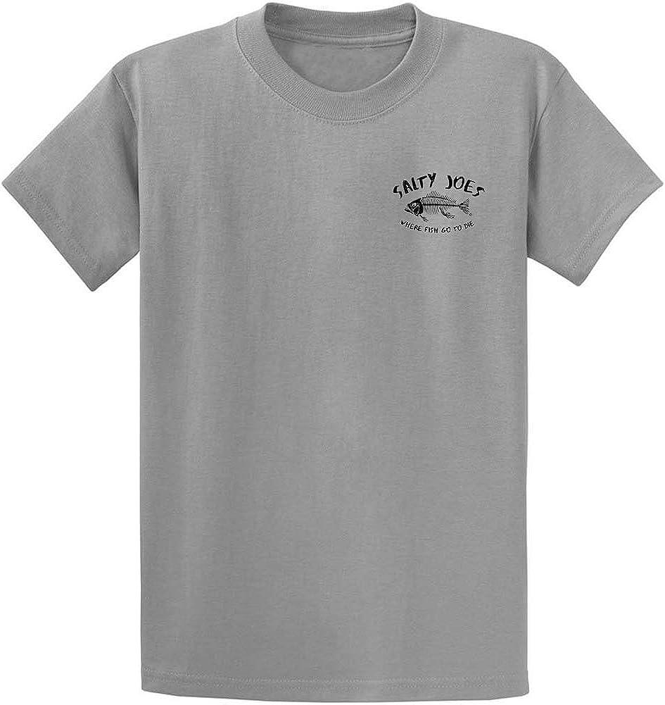 Joe's Surf Tall Salty Joe's Logo Cotton T-Shirt-MedGrey/b-4XLT