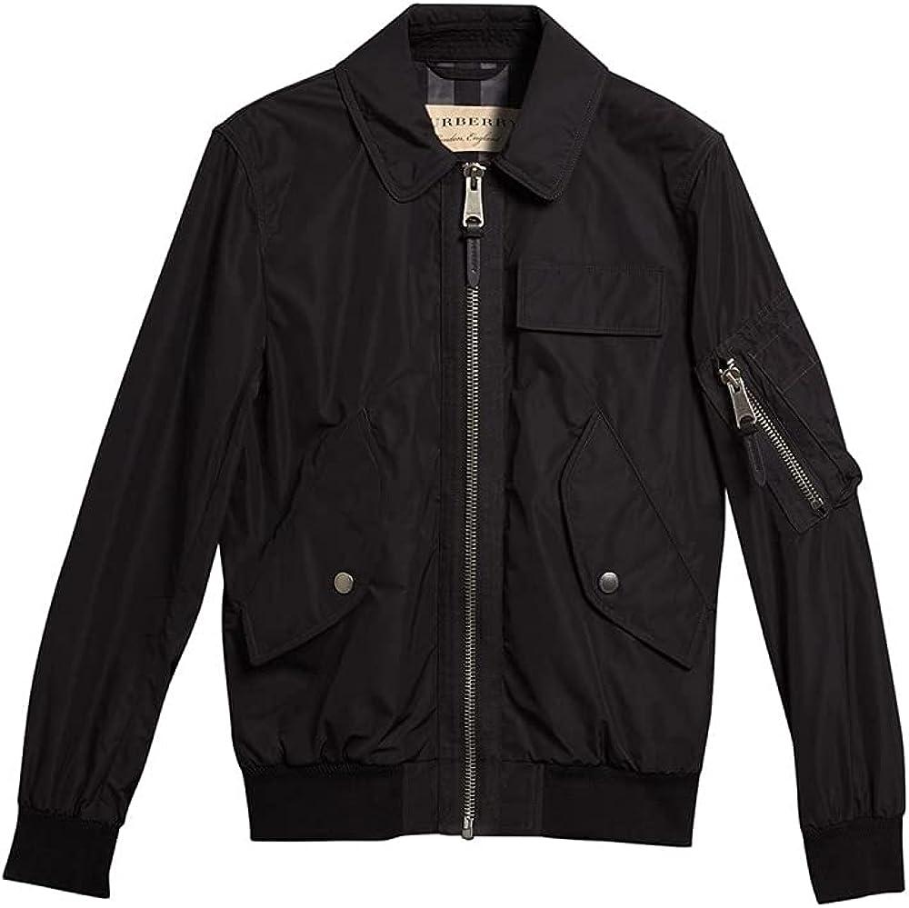 BURBERRY Men's Black Showerproof Bomber Jacket, Brand Size 48 (US Size 38)