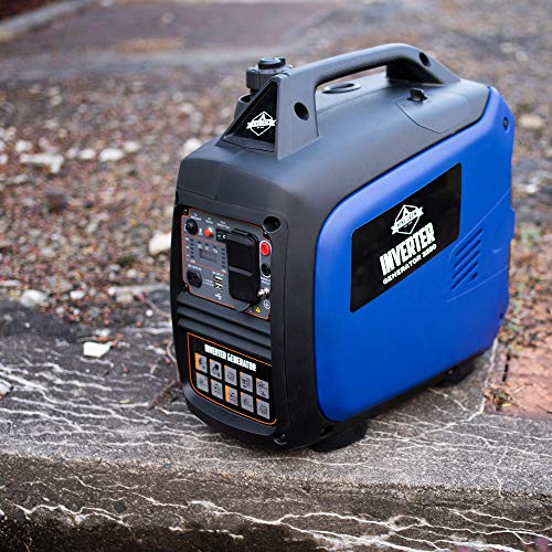 Hike Crew HCIG2250 Portable Inverter Generator with Fuel Shut-Off | 2250 Watt Super Quiet Outdoor Gas Powered Power Station | Eco Mode | Parallel Ready | CARB/EPA Compliant | Cover Included