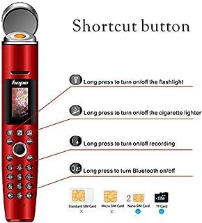 Mini Pen Style Phone Lighter Flashlight Pen Mobile Phone Bluetooth Recording Dialer Voice (Red)