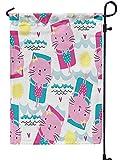 BI HomeDecor Family Flag,Katzen-Sich Hin- Und Herbewegende Luftmatratze-Muster-Polyester-Familien-Flaggen 70x102cm