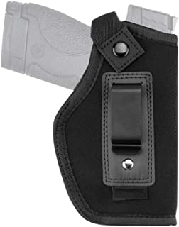 Inside The Waistband Holster, Universal IWB Holster | Concealed Carry | Fits S&W M&P Shield/Glock 26 27 29 30 33 42 43 / Springfield XD XDS/Ruger LC9 & All Similar Handguns [Right]