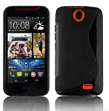 Cadorabo Case works with HTC Desire 310 in OXIDE BLACK -