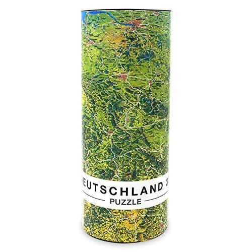 Extragoods Deutschlandkarte in 3D, Puzzle mit 1000 Teilen, Deutschland Puzzle 66 x 45 cm