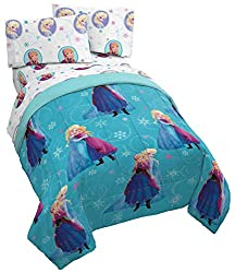 Turquoise Frozen Anna and Elsa Bed Sheets