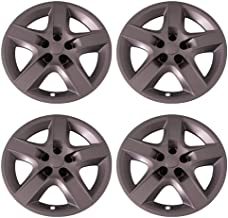 Set of 4 Silver 17 Inch Aftermarket Replacement Hubcaps with Screw On Retention System - Part Number: IWC435/17S