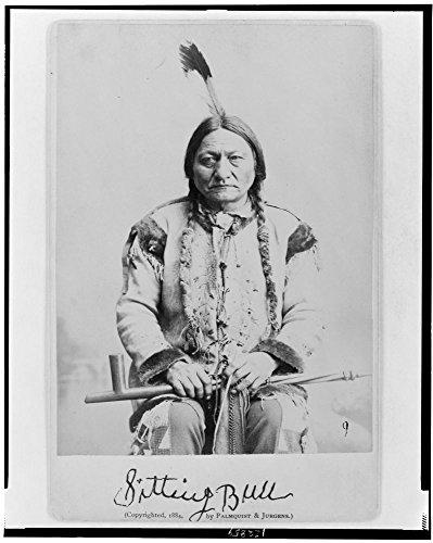 WonderClub 1884 Photo Sitting Bull Sitting Bull, Half-Length Portrait, Seated, Facing Front, Holding Calumet.