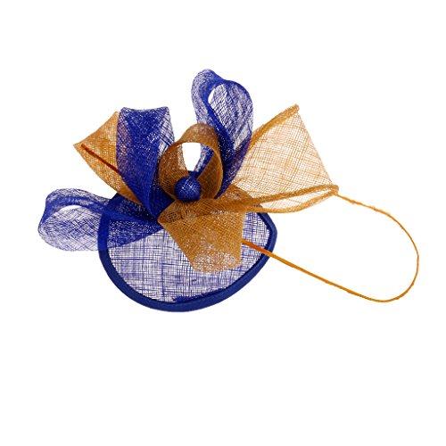 Hellery Fascinator Hat Net Juego De Carreras De Flores Tocado para El...