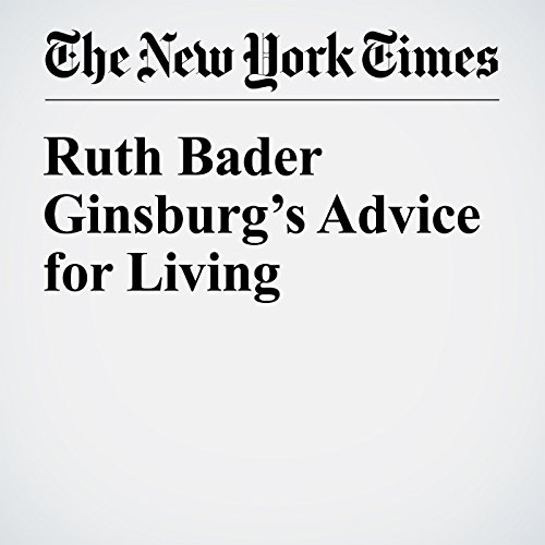 Ruth Bader Ginsburg's Advice for Living audiobook cover art