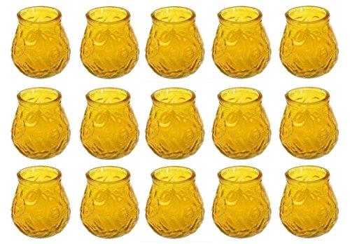 OSMA Werm GmbH Citronella Kerzen im Glas Windlichtglas Partylicht 15 Stück