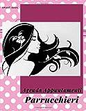 Agenda Appuntamenti Parrucchieri: Meravigliosa agenda A4 per appuntamenti di saloni per parrucchieri con cadenza di 30 minuti.