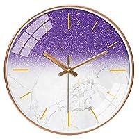 TXOZ キッチン、ベッドルーム、ガーデンルーム、リビングルーム、スタディ、Officeのサイレントウォールクロックパーソナライズ時計ファッション懐中時計クォーツウォール腕時計(10/12インチ) (Color : K, Size : 12in(30.5cm))